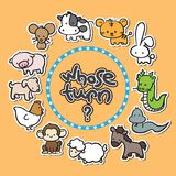 12 Animals Zodiac New Year Background. Can be used for new year card, etc stock illustration
