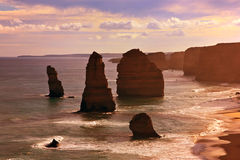 12 apôtres, route grande d'océan Photos stock