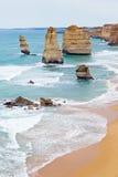 12 apôtres - route grande d'océan - l'Australie Photographie stock libre de droits
