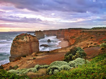 12 apôtres, route grande d'océan Image stock