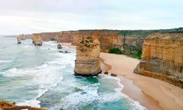 12 apôtres - route grande d'océan - l'Australie Photos stock