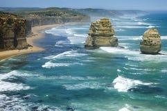 12 apostel, Grote OceaanWeg, Australië Stock Afbeeldingen