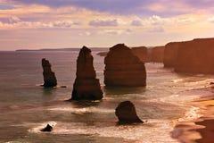 12 apostelen, Grote OceaanWeg Stock Foto's