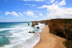 12 apostlar Australien Arkivbilder