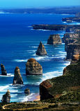 12 Apostles. Aerial view of the 12 Apostles along the Great Ocean Road, Australia Royalty Free Stock Image