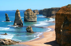 12 Apostles. Great Ocean Road, Victoria, Australia, on a bright sunny day Royalty Free Stock Image