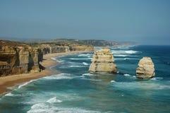 12 Apostles. Image taken of the 12 Apostles on the Great Ocean Road in Victoria Australia Stock Photos