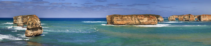 12 Apostles 6 Boat Bay Pan Stock Photography
