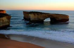 12 Apostles, Great Ocean Road. Victoria, Australia on a cloudy morning Stock Photo