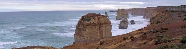 12 Apostles - Great Ocean Road. Taken at the Great Ocean Road. 12 Apostles Panorama Stock Photography