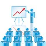 12. Apresentação do negócio no azul. Fotos de Stock