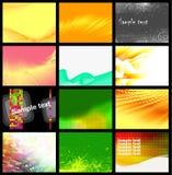 12 bakgrunder ställde in vektorn Fotografering för Bildbyråer