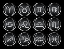 12 black buttons gray Стоковая Фотография