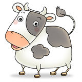 12 chinese new year icon 02 - cow. Cartoon action icon of the 2 nd chinese new year icon character - cow Stock Photos