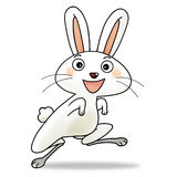 12 chinese new year icon 04 - rabbit. Cartoon action icon of the 4 th chinese new year icon character - rabbit Stock Photography