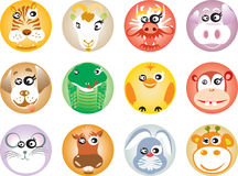 12 chinese Zodiac. (cartoon style stock illustration