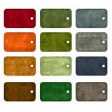 12 Colorful tags. On white background stock illustration