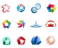 12 colorful vector symbols: (set 1) Stock Photo