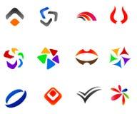12 colorful vector symbols: (set 2) Royalty Free Stock Image