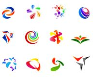 12 colorful vector symbols: (set 7). 12 different colorful vector symbols: (set 7 Stock Images