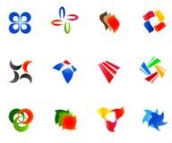 12 colorful vector symbols: (set 9) Royalty Free Stock Image