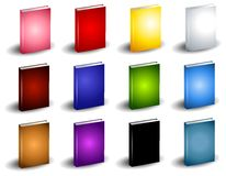 12 Colourful Book eBook Covers. A colourful selection of book or ebook covers in various colors with slight shadow Royalty Free Stock Image
