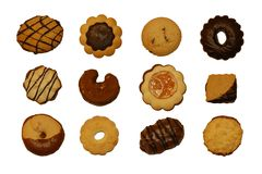 12 cookies Royalty Free Stock Photos