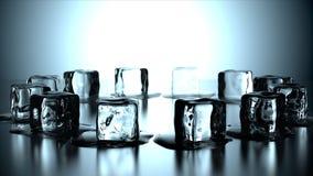 12 cubi di ghiaccio nel cerchio Fotografia Stock Libera da Diritti