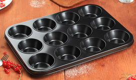 12 cup muffin tin Stock Photography