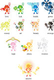 12 cute devils. Are waiting for you Royalty Free Stock Image