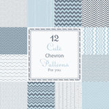 12 Cute Different Chevron Vector Seamless Patterns (tiling). Royalty Free Stock Photo