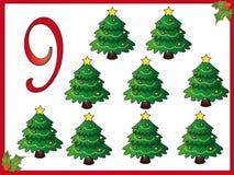 12 días de la Navidad: 9 árboles de navidad libre illustration
