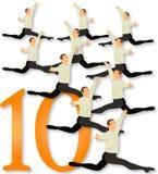 12 dagen van Kerstmis: 10 Lords het Springen Royalty-vrije Stock Afbeelding