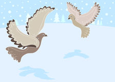12 Days of Christmas: 2 Turtle Doves. 12 Days of Christmas. Turtle Doves stock illustration