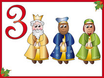 12 days of christmas: 3 magi. Part three of collection 12 day of christmas Stock Photography