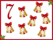 12 days of christmas: 7 bells. Part seven of collection 12 day of christmas royalty free illustration