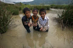 12,Dec,2016 - smile of kids from Churu people near by Dalat- Lam Dong- Vietnam Stock Images