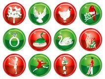 12 dias do Natal Fotografia de Stock Royalty Free