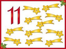 12 dias do Natal: cometa 11 Imagens de Stock Royalty Free
