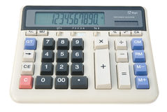 12 digit calculator. With clipping path Stock Image