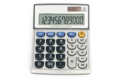 12 digit calculator. With clipping path Stock Photo