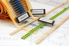 12 elettronici Fotografia Stock