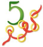 12 giorni di natale: 5 anelli dorati Fotografia Stock