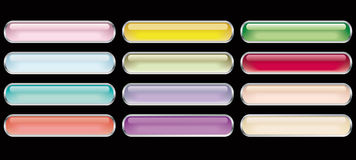 12 glass buttons. Of the miscellaneous colour Stock Images