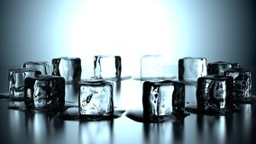 12 ice cubes in circle Royalty Free Stock Photo
