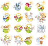 12 iconos detallados de las propiedades inmobiliarias stock de ilustración