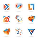 12 ikona abstrakcjonistyczny set Zdjęcia Stock