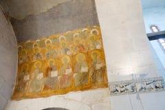 12. Jahrhundertfreskos in der Kathedrale Lizenzfreie Stockfotos