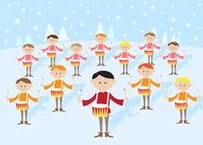 12 jours de Noël : Mise en tambour de 12 batteurs Photographie stock libre de droits