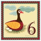 12 juldagar stock illustrationer